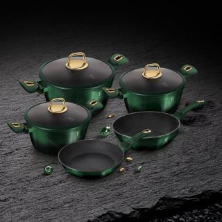 Набор посуды 10 предметов Berlinger Haus Metallic Line Carbon Edition BH-6065