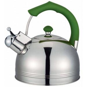 """Чайник """"Bayerhoff"""", BH - 823  4 л. с зелёной ручкой"""