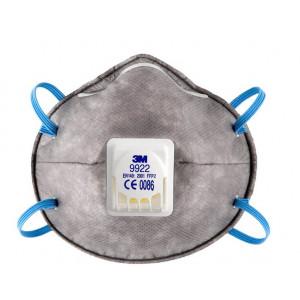 Респиратор маска (с клапаном выдоха) КЛАСС ЗАЩИТЫ FFP2, 3M 9922P