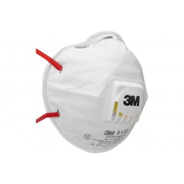 Респиратор маска (с клапаном выдоха) КЛАСС ЗАЩИТЫ FFP3 до 50 ПДК, 3M 8132 #0