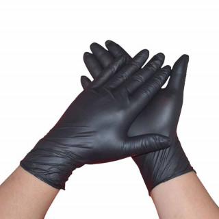 """Перчатки нитриловые черные, размер XS/S/L, """"мелочи жизни"""" (10шт/уп)"""