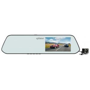 Автомобильный видеорегистратор-зеркало с 2-я камерами Eplutus D-01