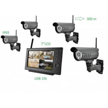 Беспроводной комплект видеонаблюдения c 4 камерами 8107JU4 #0
