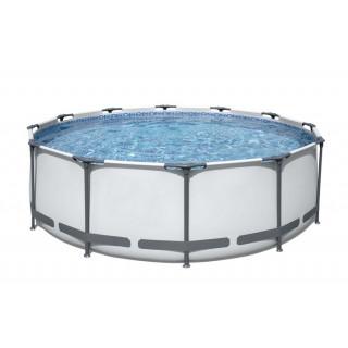 Каркасный бассейн Bestway 366х122 см + фильтр-насос 2006 л/ч, тент, лестница (56420 BW)