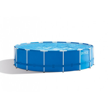 Каркасный бассейн Intex Metal Frame 457x122 см + фильтр-насос 3785 л/ч, лестница, тент, подстилка (28242) #0