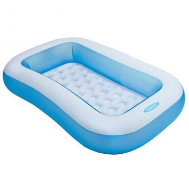 Детский надувной бассейн 166х100х28 см 90 л, от 2 лет, надувное дно (Intex 57403) #0