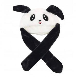 """Светящаяся шапка """"Панда"""" с двигающимися ушами"""