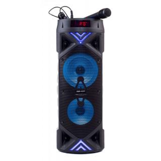 Портативная колонка ZQS-6201 Bluetooth, с микрофоном для караоке, FM, MP3 и подсветкой