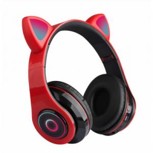 Беспроводные наушники со светящимися ушками кошки Cat Ear HL89