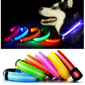 Светящийся LED ошейник для собак и кошек