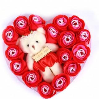 Набор мыло ароматизированное + игрушка I Love You (15 шт) FL-004