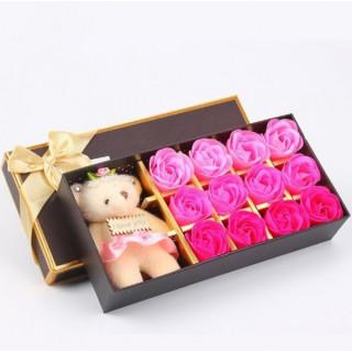Набор мыло ароматизированное + игрушка I Love You (12 шт) FL-005