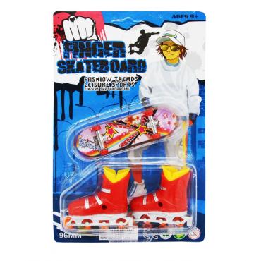 Фингерборд и ролики Finger Skateboard Fashion Trends 2 в 1  #0