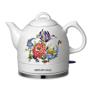 "Чайник электрический из керамики ""MercuryHaus"", MC - 6737  1,0 л."