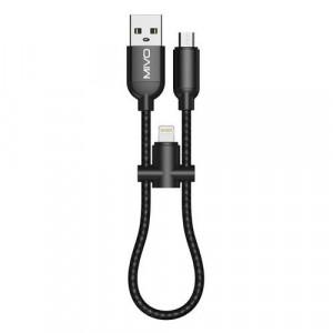 Кабель 2в1 Micro USB + Lightning Mivo MX-02M