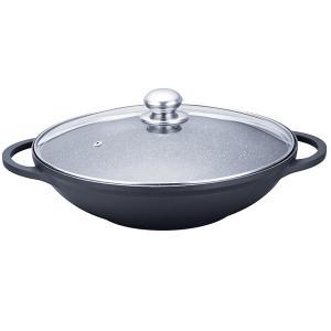 Алюминиевая сковорода 32 см WOK Maestro Granite MR-4832