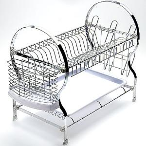 Металлическая 2-х ярустная подставка для посуды и столовых приборов Mayer&Boch 4005
