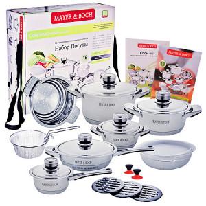 Набор посуды 19 предметов Mayer&Boch 29418