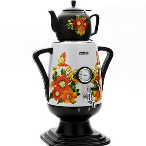 Самовар 3,2л + заварной чайник 800мл ZIMBER 10927