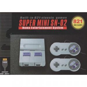 Игровая приставка Super Mini SN-02 (HDMI) 821 классических игр T821