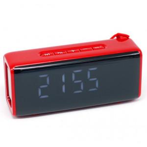 Беcпроводная портативная колонка TG174 с часами, радио и термометром
