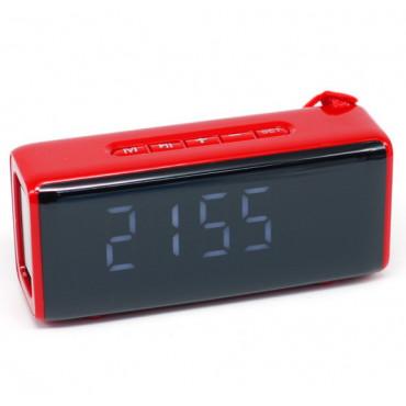 Беcпроводная портативная колонка TG174 с часами, радио и термометром #0