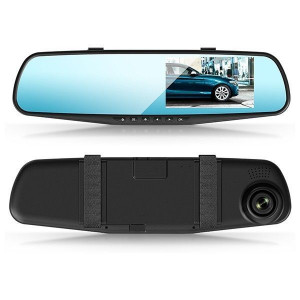 "Зеркало видеорегистратор XPX ZX 804 запись видео 1920x1080 угол обзора 120° с экраном 4.3"" датчик удара (G-сенсор)"