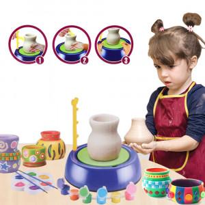 Детский набор для лепки с гончарным кругом