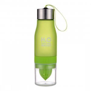 Бутылка для воды с соковыжималкой H2O Drink More Water Green