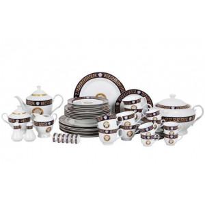 Столовый сервиз 57 пр. VS.ITALY VS-15701068 Black Platinum