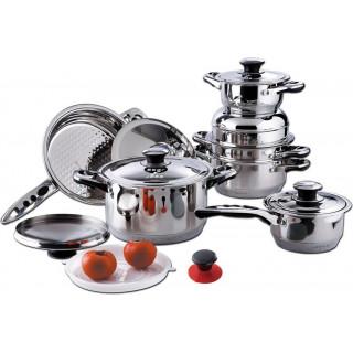 Набор кухонной посуды из нержавеющей стали Millerhaus MH-9009,19 пр.