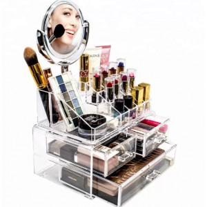 Органайзер для хранения косметики с зеркалом Cosmetic Organizer