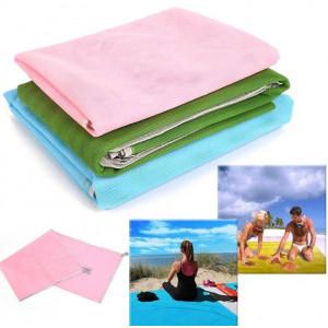 Пляжная подстилка анти-песок Sand Free Mat (200x150) розовая
