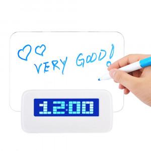 Светодиодные часы с доской для записей Message Board Clock