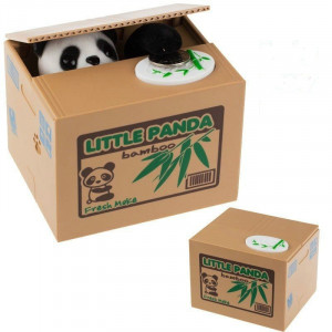 Интерактивная копилка Панда-воришка монет