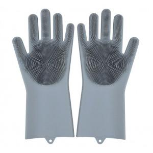 Силиконовые Перчатки для мытья посуды Premium