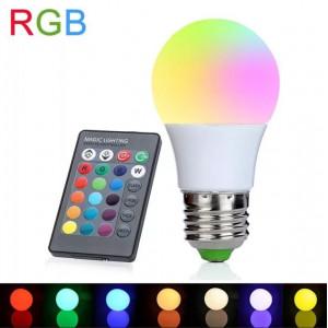 Цветная светодиодная лампа LED RGB SD с пультом ДУ (12 цветов)