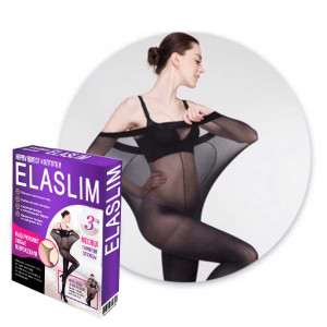 Нервущиеся колготки Elaslim (размер-XXXL) Черные