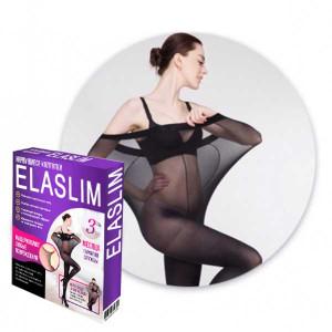Нервущиеся колготки Elaslim (размер-XL) Черные