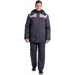 Куртка зимняя Фаворит NEW, темно-серый/серый 87469380