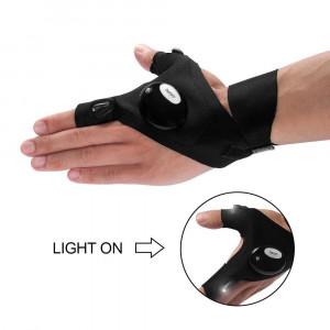 Перчатка с подсветкой на пальцах hands-free с LED для ремонта рыбалки выживания