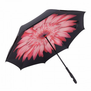 Зонт наоборот (Розовый цветок) UPBRELLA