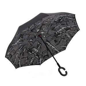 Зонт наоборот (Черно-белые надписи) UPBRELLA