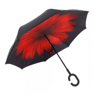 Зонт наоборот (Красный цветок) UPBRELLA