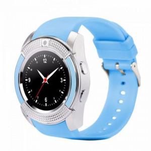 Умные часы Smart watch V8 цвет голубой