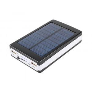 Внешний аккумулятор Power Bank Solar Charger 20000mAh на солнечной батарее