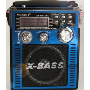 Радиоприемник с MP3 плеером и с фонариком Waxiba XB-1051URT синий