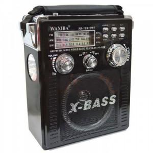 Радиоприемник с MP3 плеером и с фонариком Waxiba XB-1051URT чёрный