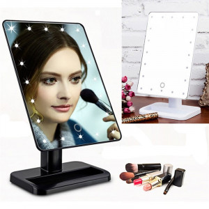 Косметическое настольное зеркало с подсветкой LED  для макияжа 20 cветодиодов