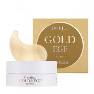 Гидрогелевые патчи для глаз Petitfee Premium Gold & EGF Eye Patch (60шт)